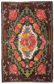 Rose Kelim Moldavia Rug 220X344 Authentic  Oriental Handwoven Dark Brown/Black (Wool, Moldova)
