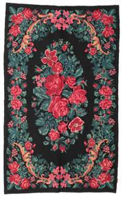 Rose Kelim Moldavia Rug 180X295 Authentic  Oriental Handwoven Dark Grey/Dark Turquoise   (Wool, Moldova)