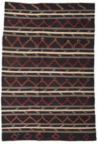 Kilim Semi Antique Turkish Rug 245X358 Authentic  Oriental Handwoven Black/Dark Grey (Wool, Turkey)