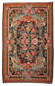 Rose Kelim Moldavia Rug 215X345 Authentic  Oriental Handwoven Crimson Red/Olive Green (Wool, Moldova)