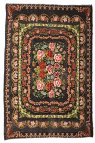Rose Kelim Moldavia Rug 233X365 Authentic  Oriental Handwoven Dark Brown/Dark Grey (Wool, Moldova)