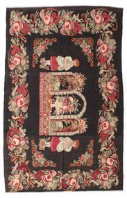 Rose Kelim Moldavia Rug 185X290 Authentic  Oriental Handwoven Black/Dark Red (Wool, Moldova)