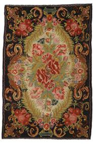 Rose Kelim Moldavia Rug 194X297 Authentic  Oriental Handwoven Crimson Red/Dark Brown (Wool, Moldova)