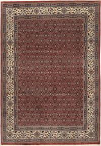 Moud Sherkat Farsh Rug 201X292 Authentic  Oriental Handknotted Dark Red/Dark Grey (Wool/Silk, Persia/Iran)