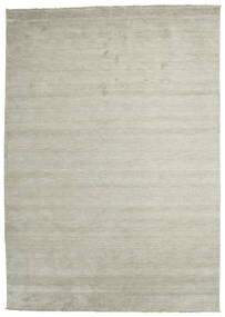 Handloom Fringes - Grey/Light Green Rug 250X350 Modern Light Grey/Light Brown Large (Wool, India)