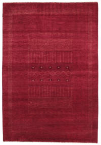 Gabbeh Loribaft Rug 152X222 Authentic  Modern Handknotted Crimson Red/Dark Red (Wool, India)