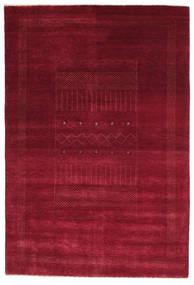 Gabbeh Loribaft Rug 150X223 Authentic  Modern Handknotted Dark Red/Crimson Red (Wool, India)