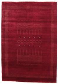Gabbeh Loribaft Rug 151X219 Authentic  Modern Handknotted Dark Red/Crimson Red (Wool, India)