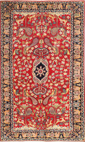 Najafabad Patina Pictorial Rug 188X320 Authentic Oriental Handknotted Rust Red/Dark Red (Wool, Persia/Iran)