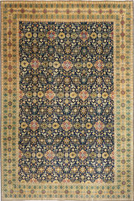 Tabriz Patina Rug 244X360 Authentic  Oriental Handknotted Dark Beige/Black (Wool, Persia/Iran)