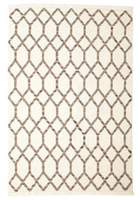 Renzo Rug 200X300 Authentic  Modern Handwoven Beige/Light Grey (Wool, India)