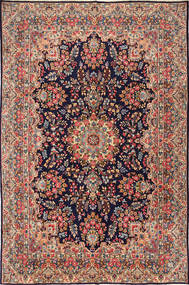 Kerman Rug 238X363 Authentic  Oriental Handknotted Dark Red/Dark Brown (Wool, Persia/Iran)