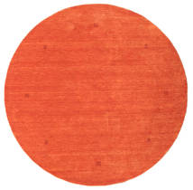Loribaf Loom Rug Ø 202 Authentic Modern Handknotted Round Orange/Crimson Red (Wool, India)