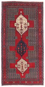 Senneh Patina Rug 145X299 Authentic  Oriental Handknotted Dark Brown/Crimson Red (Wool, Persia/Iran)