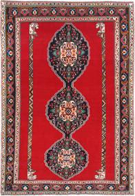 Qashqai Rug 193X285 Authentic Oriental Handknotted Crimson Red/Dark Grey (Wool, Persia/Iran)