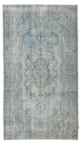 Colored Vintage Rug 161X292 Authentic  Modern Handknotted Light Grey/Turquoise Blue (Wool, Turkey)