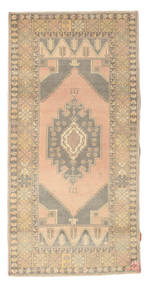 Colored Vintage Rug 102X205 Authentic  Modern Handknotted Dark Beige/Light Grey (Wool, Turkey)