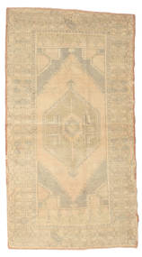 Colored Vintage Rug 113X210 Authentic  Modern Handknotted Beige/Light Brown (Wool, Turkey)