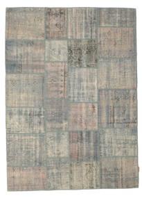 Patchwork Rug 174X240 Authentic  Modern Handknotted Light Grey (Wool, Turkey)