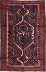 Lori Rug 160X255 Authentic  Oriental Handknotted Black/Dark Red (Wool, Persia/Iran)