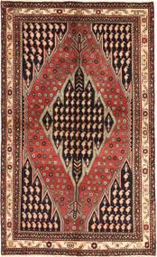 Saveh Rug 136X230 Authentic Oriental Handknotted Dark Red/Dark Brown (Wool, Persia/Iran)