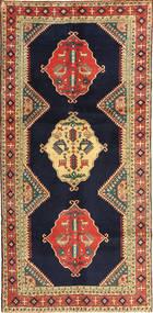 Ardebil Rug 145X303 Authentic  Oriental Handknotted Hallway Runner  Dark Purple/Dark Red (Wool, Persia/Iran)