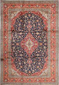 Keshan Rug 252X365 Authentic  Oriental Handknotted Dark Red/Dark Grey Large (Wool, Persia/Iran)