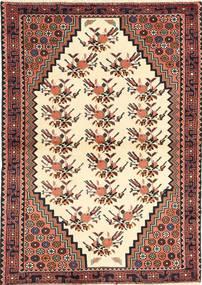 Saveh Rug 100X145 Authentic Oriental Handknotted Beige/Dark Brown (Wool, Persia/Iran)