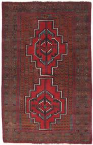 Baluch Rug 87X137 Authentic  Oriental Handknotted Dark Red/Dark Brown (Wool, Afghanistan)