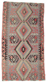Kilim Semi Antique Turkish Rug 170X309 Authentic  Oriental Handwoven Dark Brown/Light Grey (Wool, Turkey)