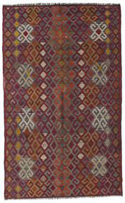 Kilim Semi Antique Turkish Rug 182X300 Authentic  Oriental Handwoven Dark Red/Dark Grey (Wool, Turkey)
