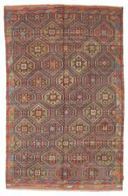 Kilim Semi Antique Turkish Rug 186X295 Authentic  Oriental Handwoven Dark Red/Light Brown (Wool, Turkey)