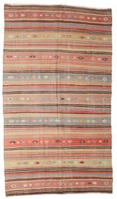Kilim Semi Antique Turkish Rug 177X310 Authentic  Oriental Handwoven Dark Red/Dark Brown (Wool, Turkey)