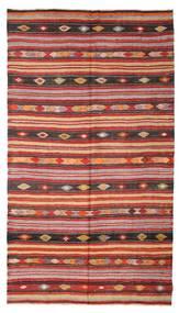 Kilim Semi Antique Turkish Rug 180X322 Authentic  Oriental Handwoven Dark Red/Rust Red (Wool, Turkey)