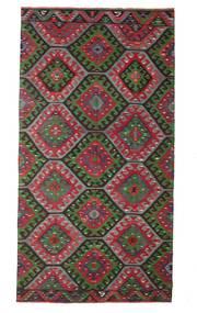 Kilim Semi Antique Turkish Rug 174X327 Authentic  Oriental Handwoven Dark Brown/Black (Wool, Turkey)