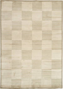 Himalaya Rug 173X242 Authentic  Modern Handknotted Beige/Olive Green ( India)