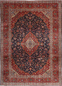 Keshan Rug 255X360 Authentic  Oriental Handknotted Dark Red/Dark Grey Large (Wool, Persia/Iran)