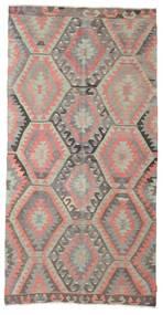 Kilim Semi Antique Turkish Rug 153X297 Authentic  Oriental Handwoven Light Grey/Light Pink (Wool, Turkey)