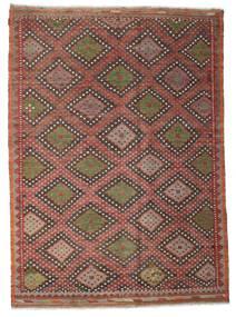 Kilim Semi Antique Turkish Rug 206X284 Authentic  Oriental Handwoven Dark Red/Dark Brown (Wool, Turkey)