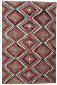 Kilim Semi Antique Turkish Rug 192X297 Authentic  Oriental Handwoven Dark Grey/Dark Red (Wool, Turkey)