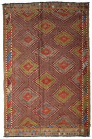 Kilim Semi Antique Turkish Rug 205X317 Authentic  Oriental Handwoven Dark Brown/Brown (Wool, Turkey)