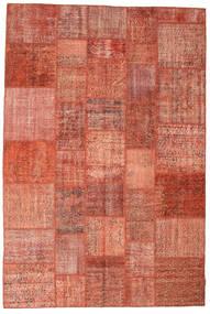 Patchwork Rug 202X302 Authentic  Modern Handknotted Crimson Red/Dark Red (Wool, Turkey)