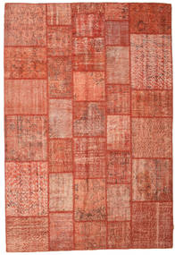 Patchwork Rug 202X298 Authentic  Modern Handknotted Crimson Red/Light Pink (Wool, Turkey)