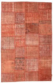 Patchwork Rug 195X302 Authentic  Modern Handknotted Crimson Red/Light Brown (Wool, Turkey)