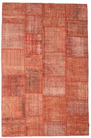 Patchwork Rug 198X302 Authentic  Modern Handknotted Crimson Red/Light Pink/Dark Red (Wool, Turkey)