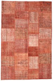 Patchwork Rug 196X301 Authentic  Modern Handknotted Crimson Red/Dark Red (Wool, Turkey)