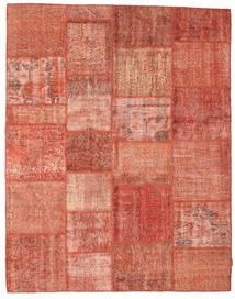 Patchwork Rug 197X251 Authentic  Modern Handknotted Dark Red/Light Pink/Crimson Red (Wool, Turkey)