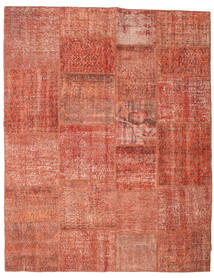 Patchwork Rug 198X252 Authentic  Modern Handknotted Crimson Red/Light Pink (Wool, Turkey)