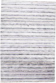 Bamboo Silk Handloom Rug 166X250 Authentic  Modern Handknotted Light Grey/Beige ( India)