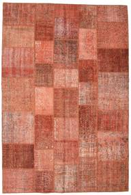 Patchwork Rug 201X300 Authentic  Modern Handknotted Crimson Red/Dark Red (Wool, Turkey)